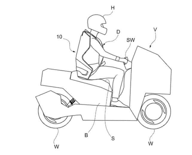 Airbag sepeda motor