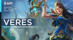 Skin Terbaru Veres Whip Sword Goddess di Event Terbaru AOV