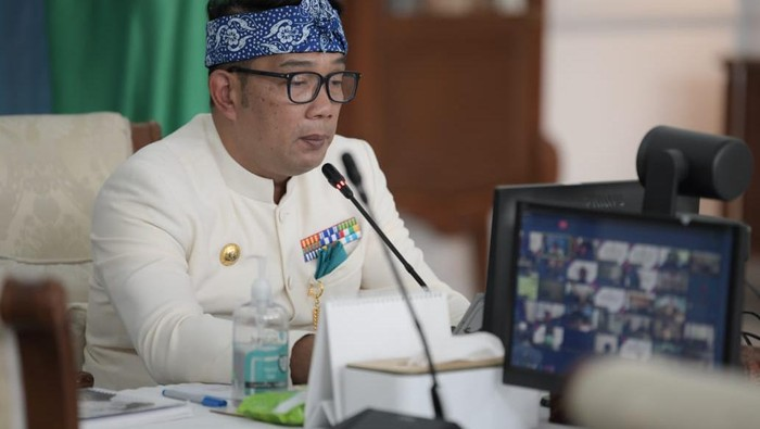 Gubernur Jabar Ridwan Kamil di Gedung Pakuan, Kota Bandung, Kamis (20/5/2021)