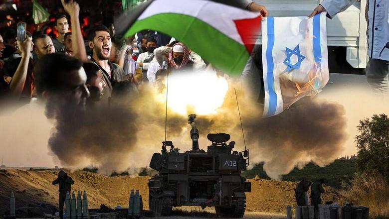 Kolase Foto Israel-Palestina untuk Cover Picture Story