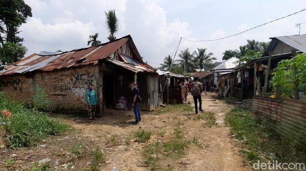 Kondisi kampung kediaman 4 gadis asal Palembang yang hilang bersamaan. (Foto. Prima S/detikcom)