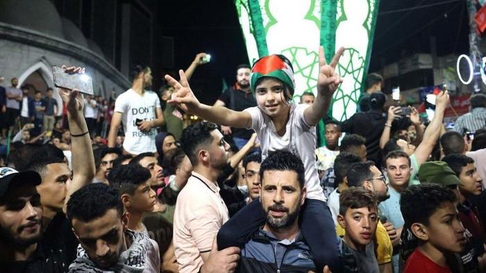 Palestina rayakan gencatan senjata, Israel dan Hamas saling klaim kemenangan