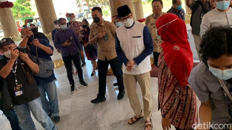 Sandiaga bertemu Gubernur Jatim Khofifah hari Jumat ini (21/5)