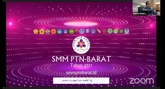 SMM PTN-Barat dilakukan secara daring oleh seluruh rektor perguruan tinggi negeri melalui Zoom, berpusat di Universitas Syiah Kuala, Banda Aceh.