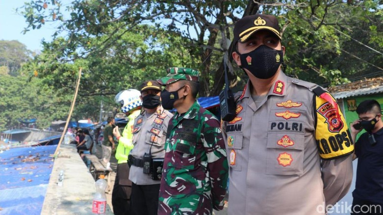 Penjagaan obwis di Sukabumi.
