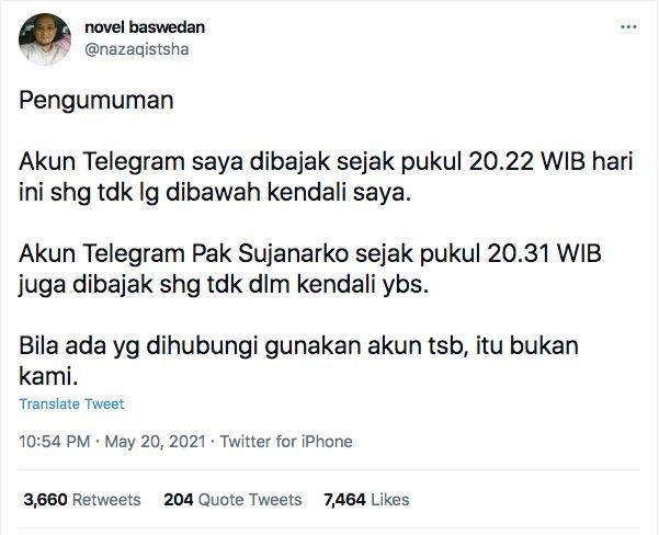 Twitter Novel Baswedan