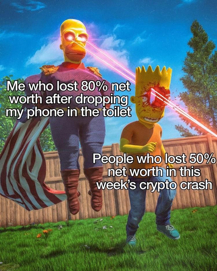 Pasar crypto belakangan ini dilanda penurunan meski kini naik sangat perlahan. Meme ini gambarkan kerasnya dunia crypto.