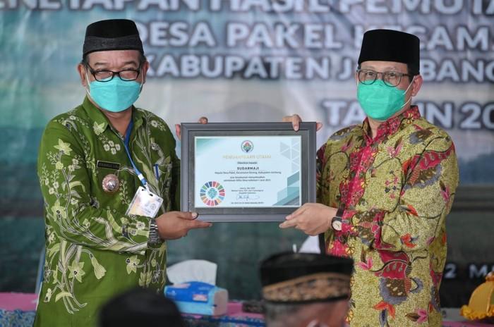 Menteri Desa, Pembangunan Daerah Tertinggal dan Transmigrasi (Mendes PDTT) Abdul Halim Iskandar mengapresiasi pemutakhiran data berbasis SDGs desa di Desa Pakel dan Desa Pulosari, Kecamatan Bareng, Kabupaten Jombang, Jawa Timur.