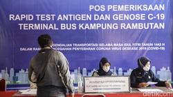 Swab Antigen dan GeNose masih gencar dilakukan bagi para pemudik. Salah satunya dilakukan di kawasan Terminal Kampung Rambutan.