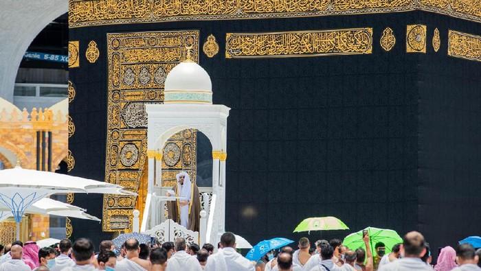 Posisi mimbar khatib di Masjidil Haram yang diserang ( Twitter @ReasahAlharmai)