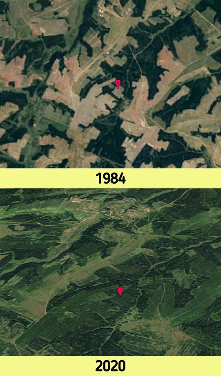 Potret perubahan bumi beberapa dekade