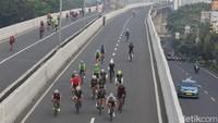 Jejak JLNT Kp Melayu: Diresmikan Jokowi, Kini Dilintasi Road Bike