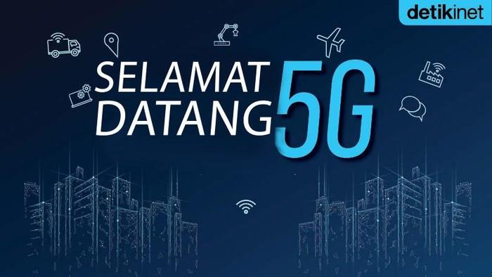 Ilustrasi 5G yang akan komersialisasi di Indonesia