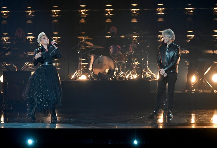 P!nk performs at the 2021 Billboard Music Awards at the Microsoft Theatre in Los Angeles, Ca
