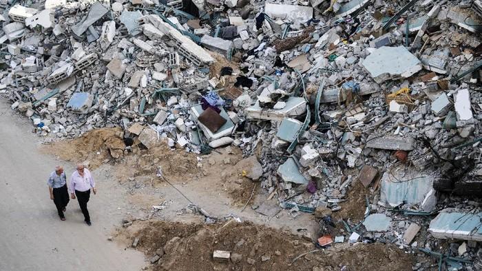 Serangan udara Israel selama 11 hari di Jalur Gaza mengakibatkan sejumlahlah bangunan rusak. Begini penampakannya.