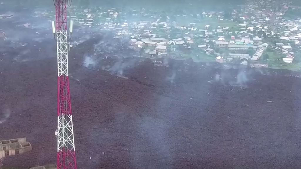 Ratusan Rumah di Kongo Ditelan Lava Letusan Gunung Nyiragongo