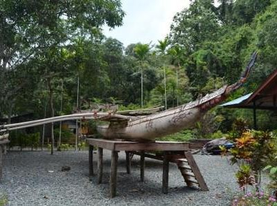 Uniknya Perahu di Teluk Tanah Merah Papua, Dibedakan Sesuai Jenis Kelamin
