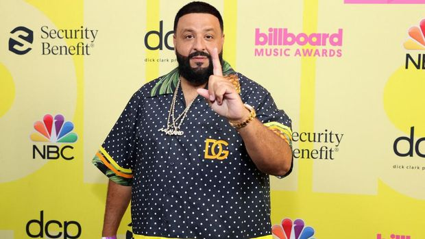 LOS ANGELES, CALIFORNIA - MAY 23: DJ Khaled poses backstage for the 2021 Billboard Music Awards, broadcast on May 23, 2021 at Microsoft Theater in Los Angeles, California.   Rich Fury/Getty Images for dcp/AFP (Photo by Rich Fury / GETTY IMAGES NORTH AMERICA / Getty Images via AFP)