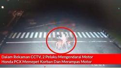 Detik-detik Ojol Dibegal di Tugu Tani Terekam CCTV, Pelaku Ditangkap!