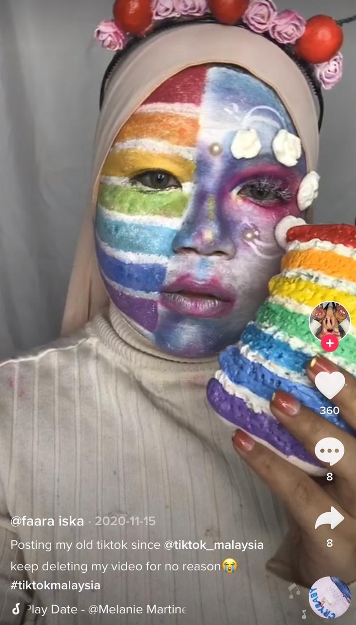Gokil! Cewek Ini Jago Make Up Ubah Wajah Mirip Sepiring Opor dan Ketupat