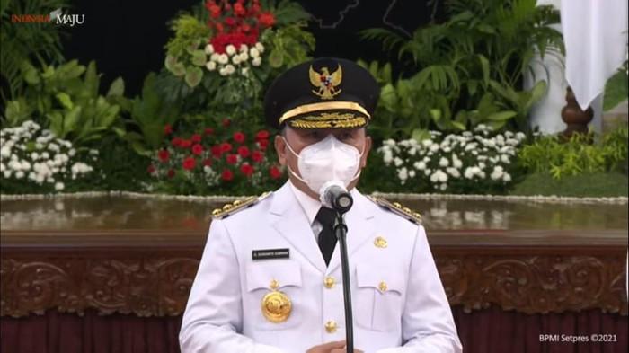 Gubernur Kalimantan Tengah (Kalteng) Sugianto Sabran (Foto: Tangkapan layar YouTube Setpres)