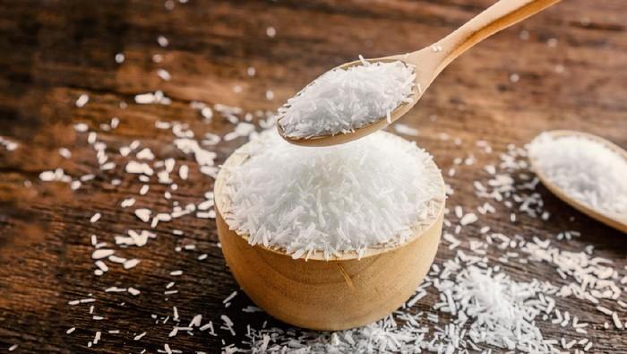 mono sodium glutamate (MSG) or seasoning ,gourmet powder on wooden table