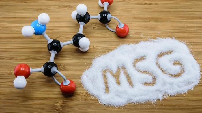 Molecule of glutamate (MSG), a flavor enhancer in many asian food
