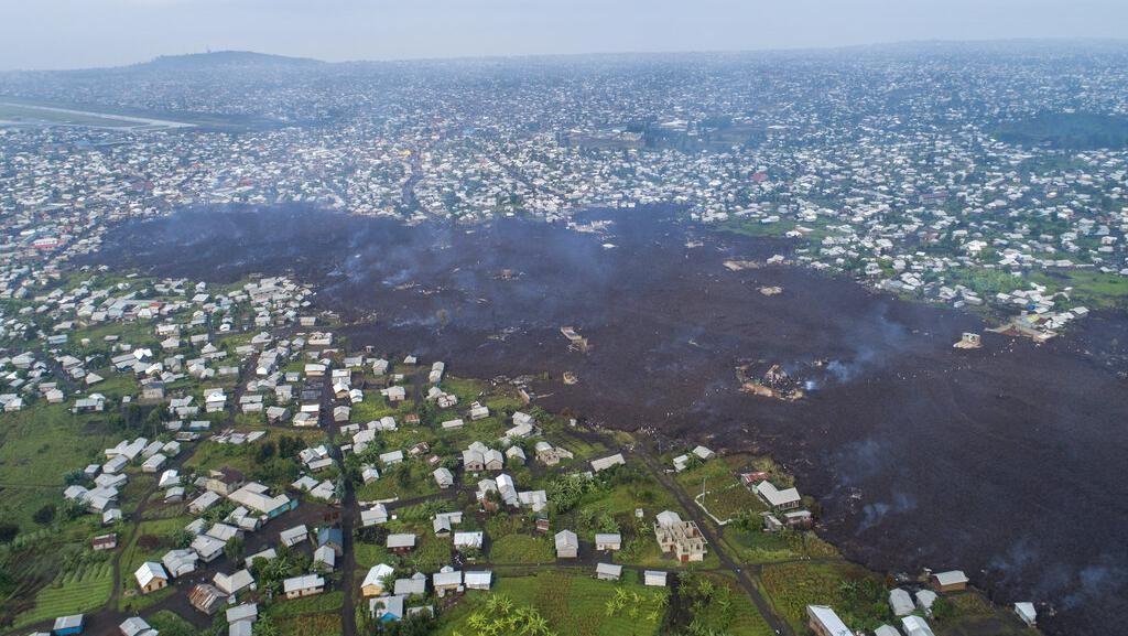 Lava Gunung Nyiragongo Lahap Ratusan Rumah Warga di Kongo
