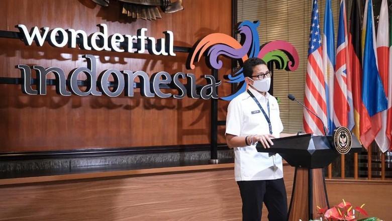 Sandiaga berbicara mengenai kebijakan work from Bali.