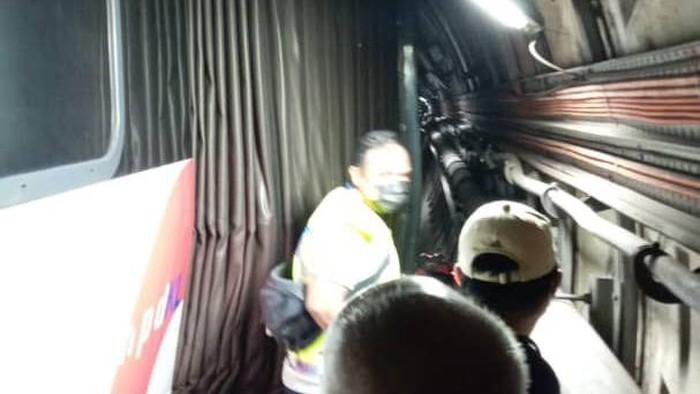 Tabrakan dua kereta LRT di Malaysia. Sebanyak 213 orang terluka (Twitter @bernamadotcom)