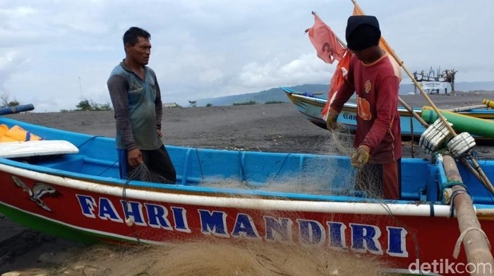 Aktivitas nelayan di kawasan pantai Kabupaten Bantul, Rabu (26/5/2021).
