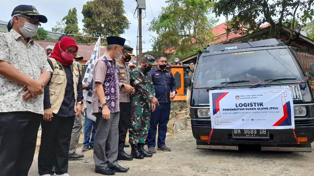 Jelang PSU Pilgub Jambi, KPU Distribusikan Logistik ke TPS di Kerinci