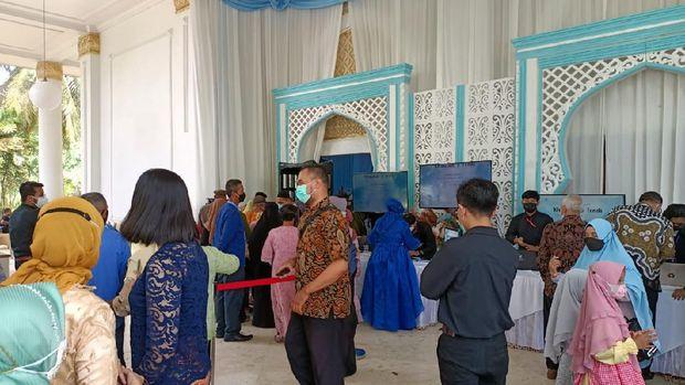 Wagub Kaltim Hadi Mulyadi menggelar resepsi pernikahan putrinya, Rabu (26/5/2021).