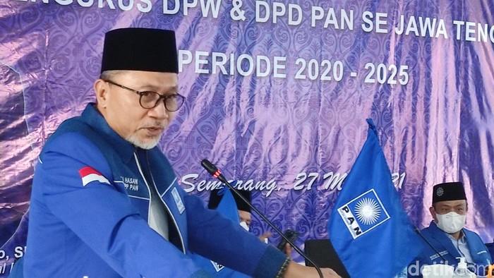 Ketum PAN Zulkifli Hasan di Semarang, Kamis (27/5/2021).
