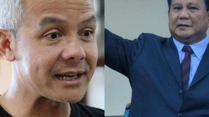 Prabowo dan Ganjar dalam sejumlah survei (detikcom)