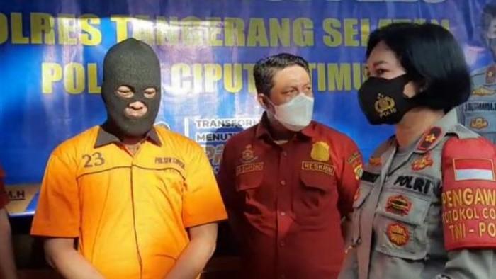 Pria yang ancam kurir di Ciputat, Tangsel jadi tersangka dan ditahan