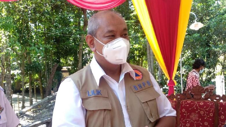 Sekretaris Utama BNPB Lilik Kurniawan saat memberikan keterangan