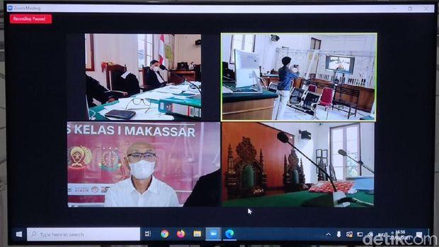Sidang terdakwa penyuap Nurdin Abdullah, pengusaha Agung Sucipto (Hermawan/detikcom).