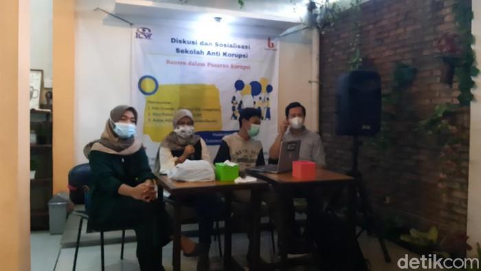 Diskusi soal Banten dalam Pusaran Korupsi di Serang (Foto: Bahtiar/detikcom)