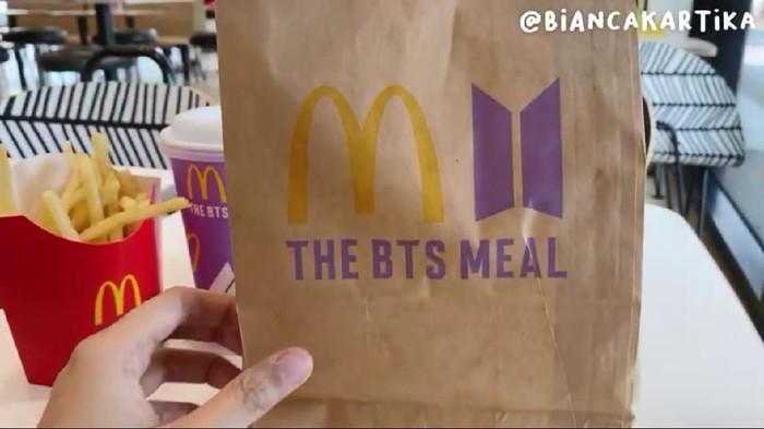 Mencicipi Menu McD Kolaborasi BTS, Ini Respon Bianca Kartika