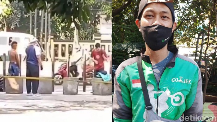 Driver Ojol Bandung Berikan Baju untuk ODGJ
