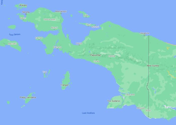 Papua dan Papua Barat (Google Maps)