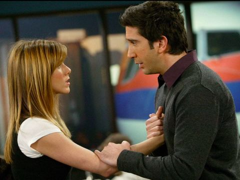 This image provided by HBO Max shows Jennifer Aniston, from left, Courteney Cox, Matthew Perry, Lisa Kudrow, David Schwimmer and Matt LeBlanc in a scene from the