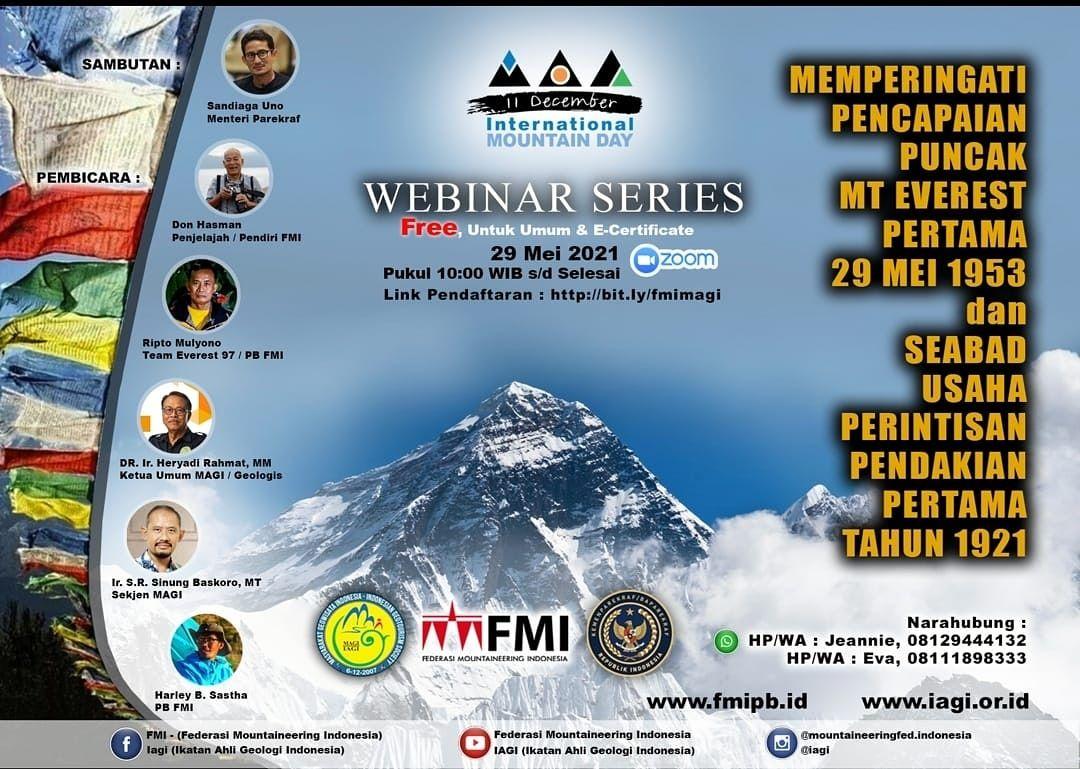 Peringatan Pencapaian Puncak Everest pertama.