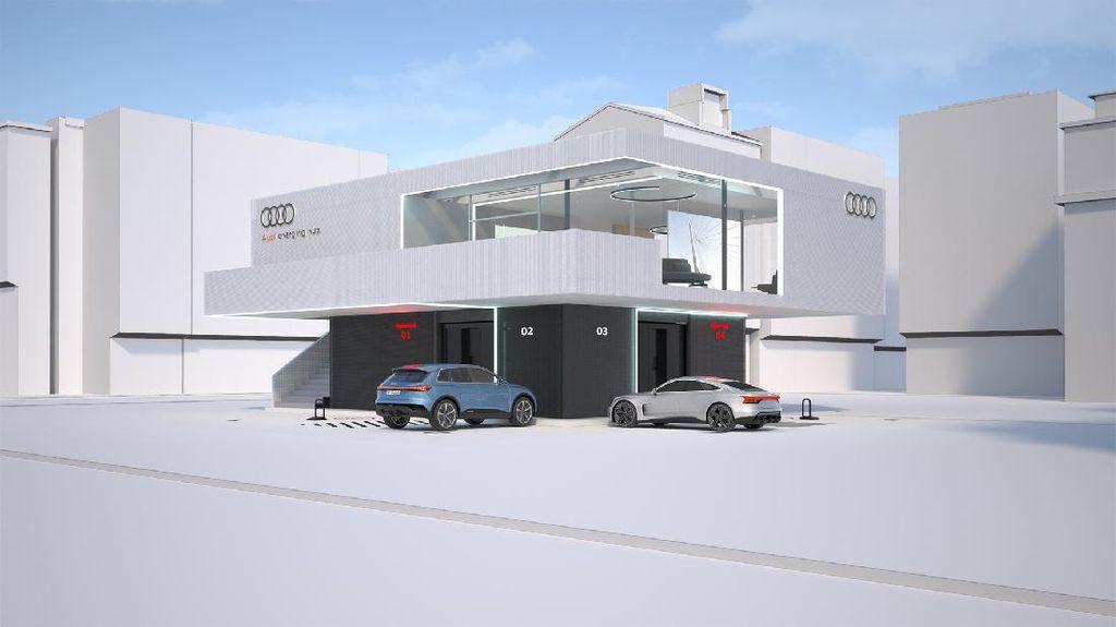 Audi Kenalkan Konsep SPKLU yang Cozy Banget Layaknya Lounge Bandara