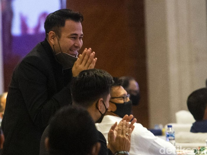 PSSI menggelar Kongres Tahunan di Hotel Raffles, Jakarta, Sabtu (29/5/2021). Raffi Ahmad dan Kaesang Pangarep hadir dalam kongres tersebut.