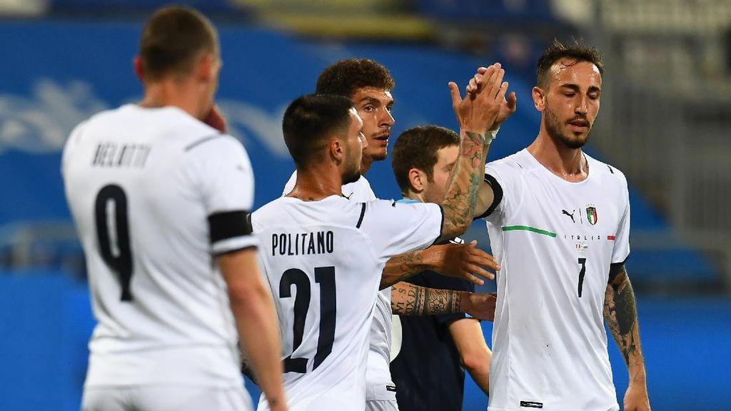 Timnas Italia Gilas San Marino 7-0 di Laga Persahabatan