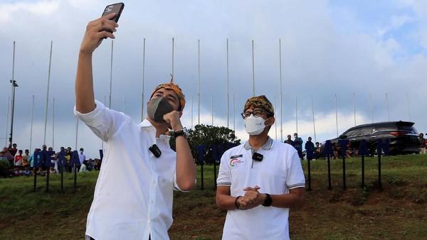 Acara promosi ini dihadiri Menteri Pariwisata dan Ekonomi Kreatif Sandiaga Uno dan Raffi Ahmad.