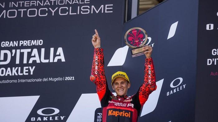 Gabriel Rodrigo dari Indonesia Racing Team finis ketiga di Moto3 Italia, Minggu (30/5/2021) malam WIB