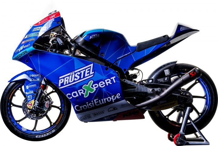 Motor yang digunakan pebalap Moto3 dari tim CarXpert PruestelGP, Jason Dupasquier